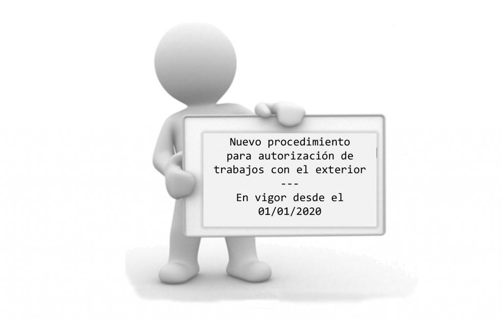 IMG El procedimiento para la autorización de trabajos con el exterior pasa a ser telemático