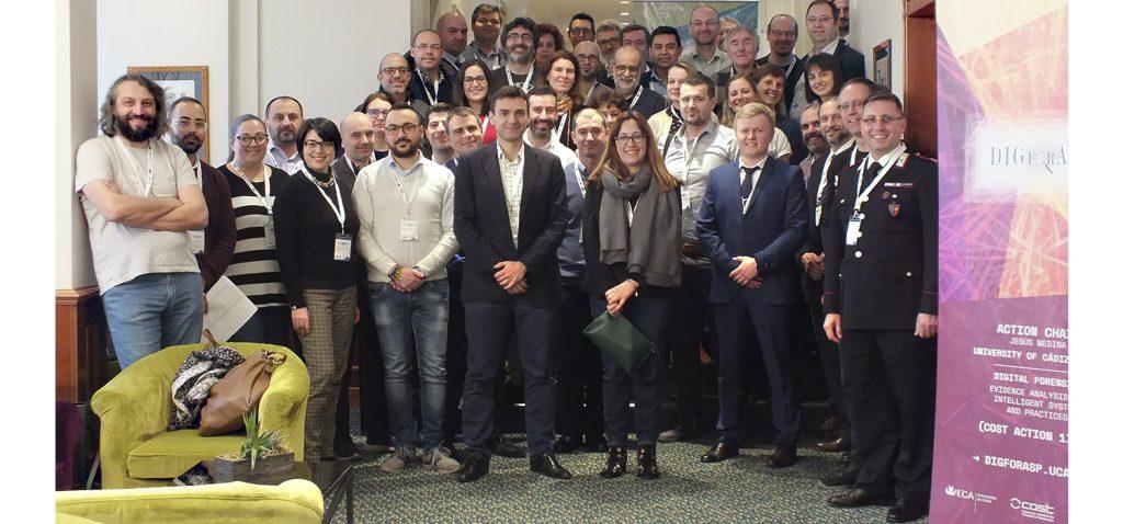 La red europea COST DIGital FORensics liderada por la UCA presenta sus últimos avances en Roma